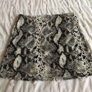 NWT PacSun snake mini skirt